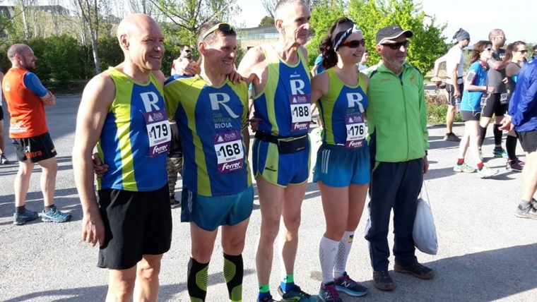 Cinco compañeros desafiaron la Primera etapa la contra relój La Grajera-Logroño en la IV Edición La Rioja Ultratrail