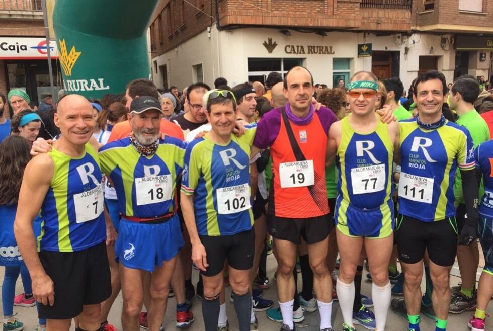 Maravillosa mañana la que disfrutaron nuestros seis compañeros en la 13ª Carrera Enoturismo de Aldeanueva de Ebro
