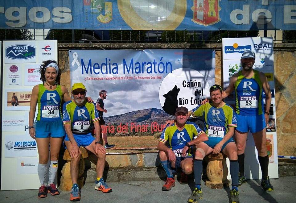 Buena carrera que corrieron y disfrutaron nuestros cinco compañeros en la VII Media Maratón Hontoria Del Pinar Cañón Del Río Lobos.