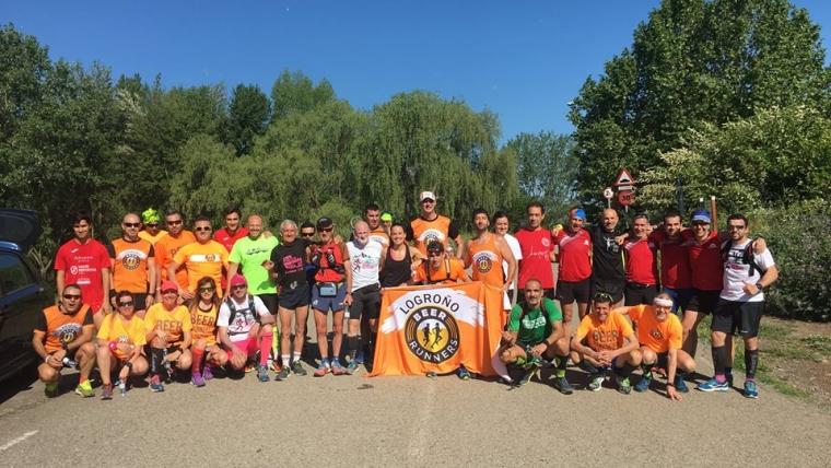 Seis compañeros se animaron a la III Subida a Clavijo organizada por los Beer Runners Logroño.