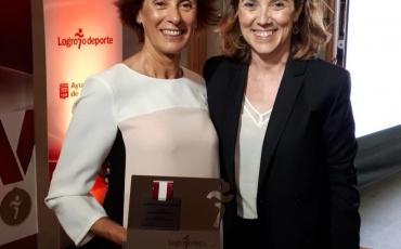 Nuestra brillante campeona Marcelina Hernaiz galardonada con el honorísimo premio de la Gala Logroño Deporte 2018.