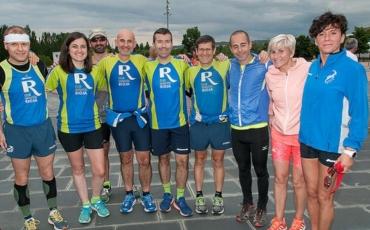 Ocho compañeros disfrutaron corriendo en el Global Running Day de Logroño.
