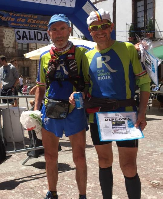 Nuestros compañeros Rafael Martinez,Gregorio Ascacibar y Ricardo Lopez,corrieron la XXIII Travesía Valle de Ezcaray Memorial Javi Valgañón.