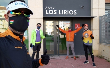 Cuatro compañeros nuestros corrieron el Cros Popular de Reyes de Los Lirios.